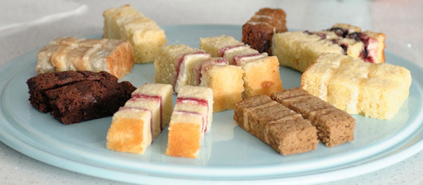 Cake Flavours - Victoria sponge, chocolate, coffee, lemon